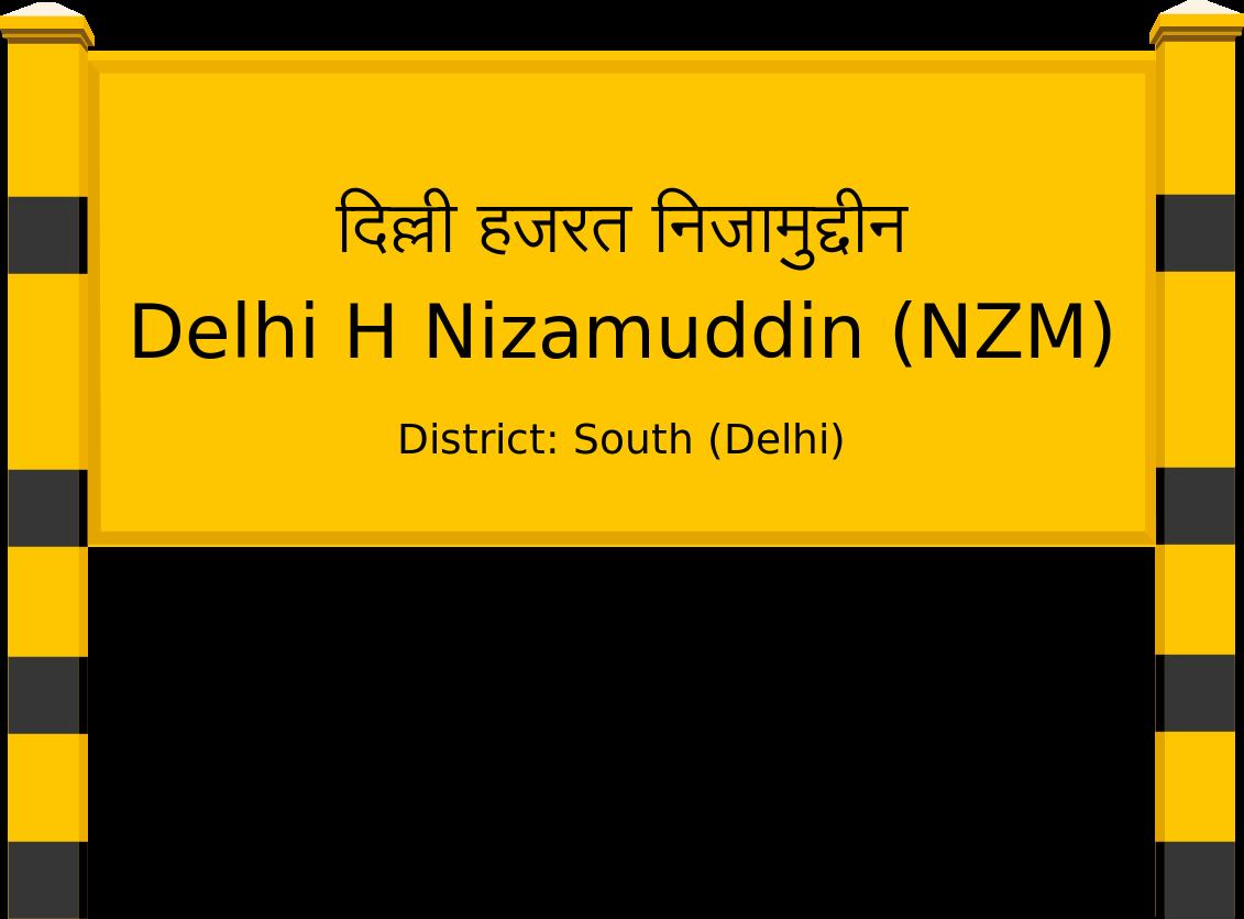 Delhi H Nizamuddin (NZM) Railway Station