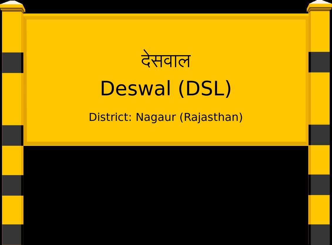 Deswal (DSL) Railway Station