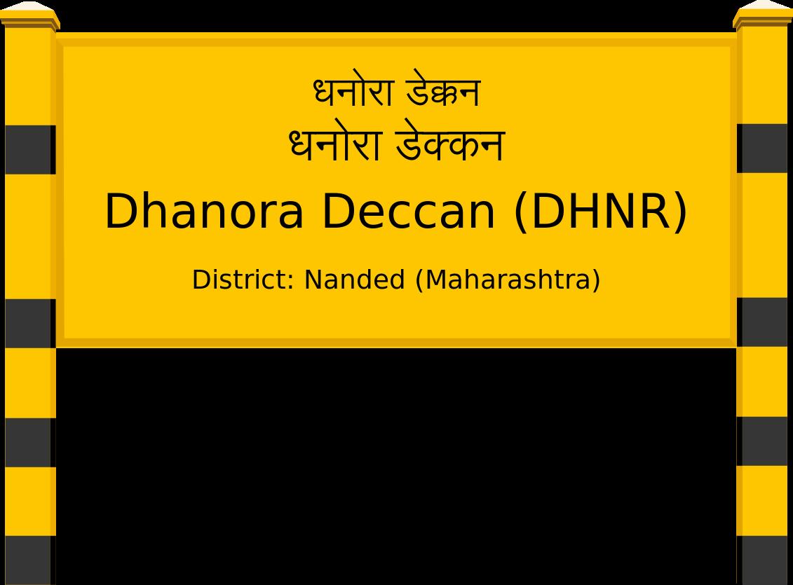 Dhanora Deccan (DHNR) Railway Station