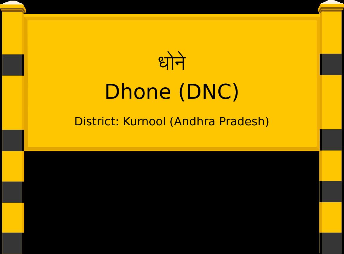 Dhone (DNC) Railway Station
