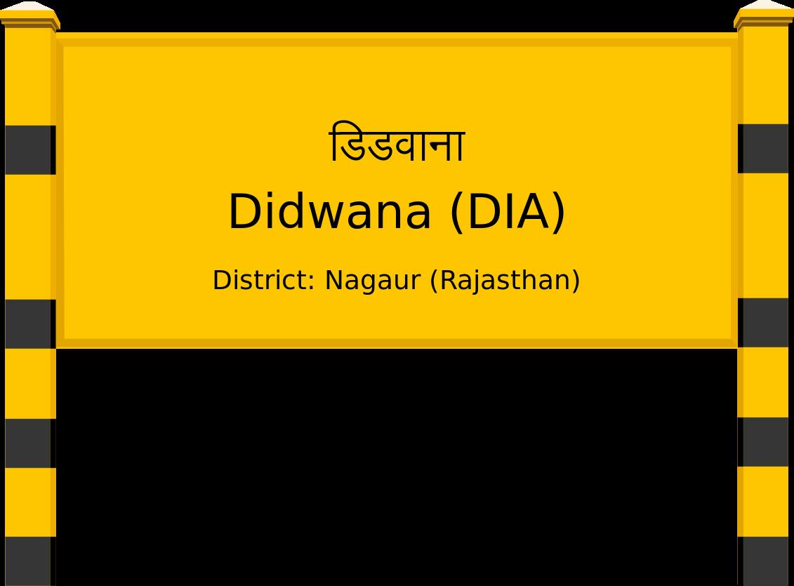 Didwana (DIA) Railway Station
