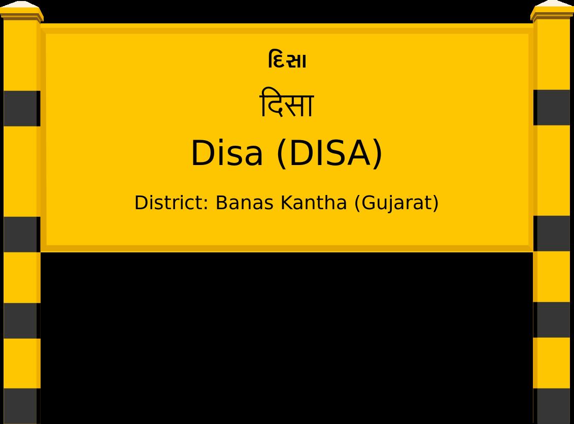 Disa (DISA) Railway Station