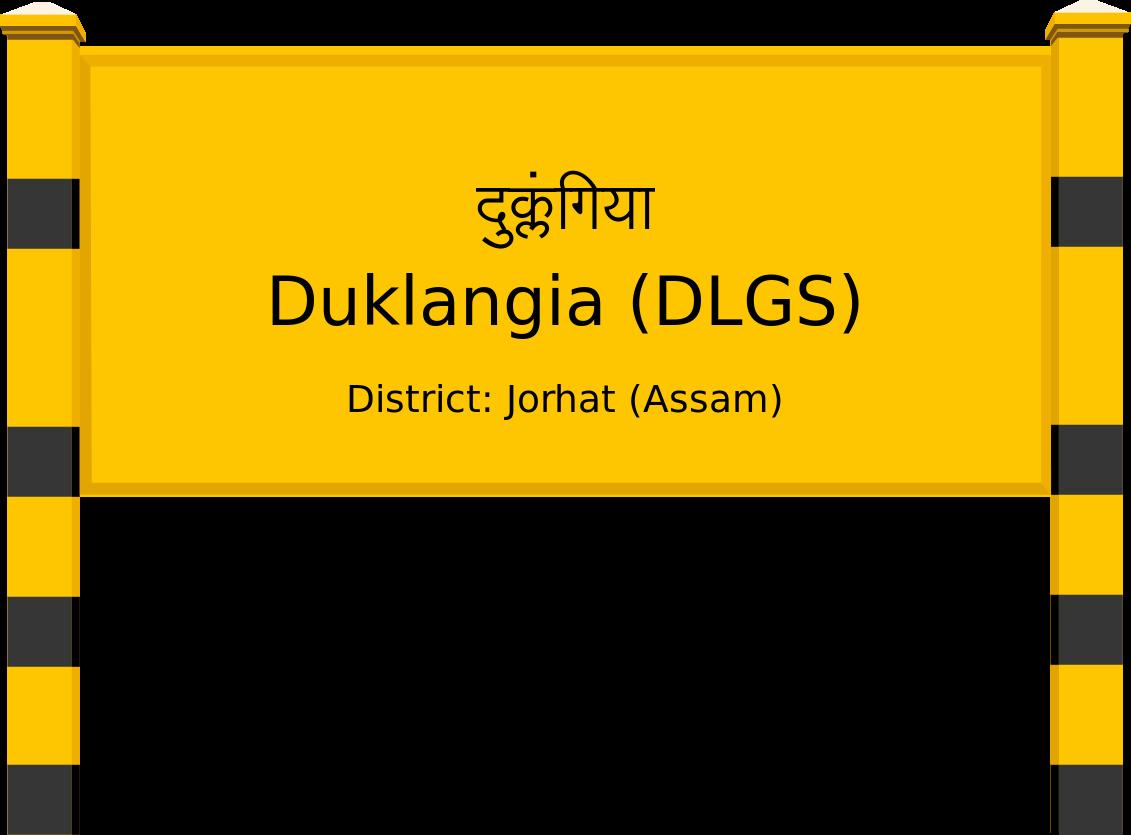 Duklangia (DLGS) Railway Station
