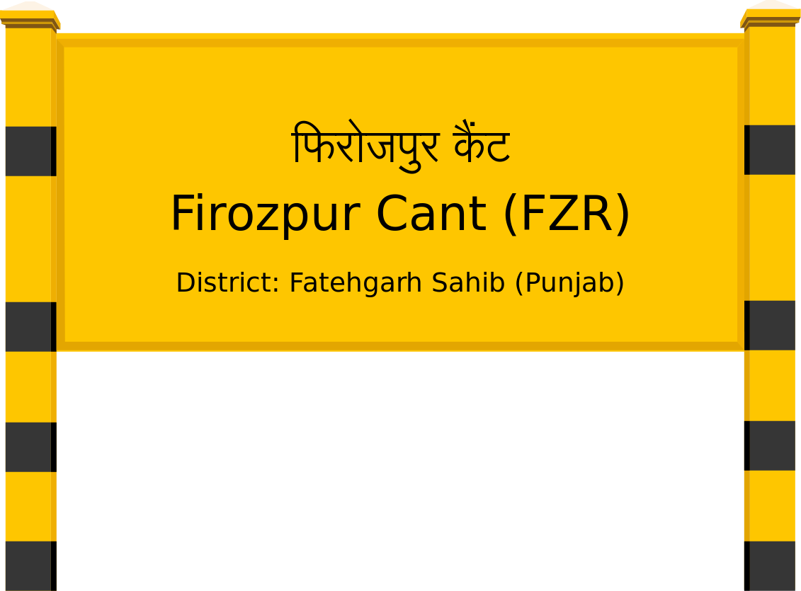 Firozpur Cant (FZR) Railway Station