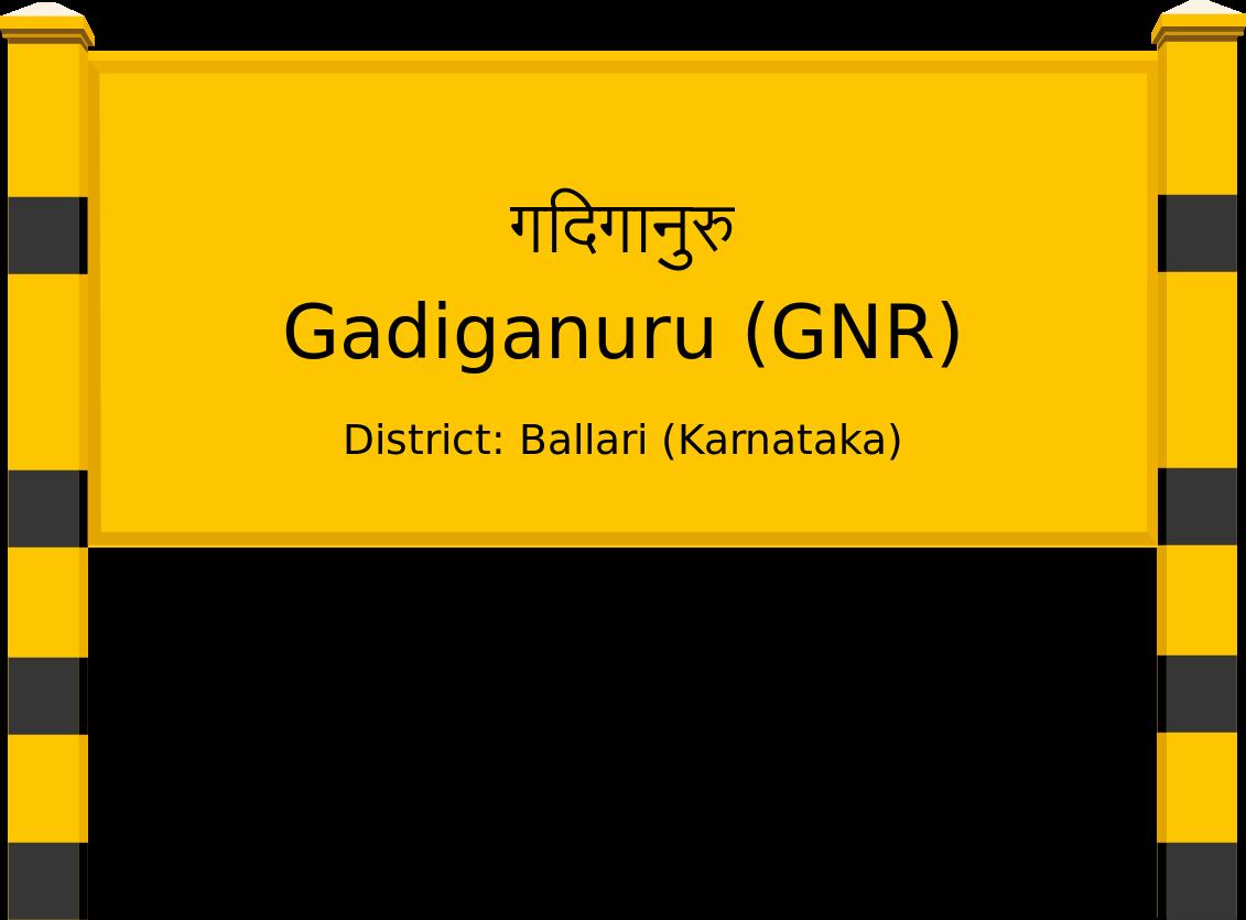 Gadiganuru (GNR) Railway Station