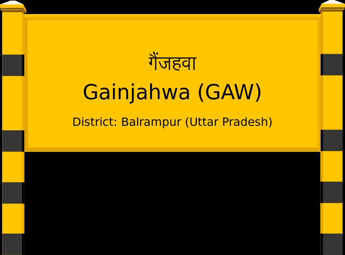 Gainjahwa (GAW) Railway Station