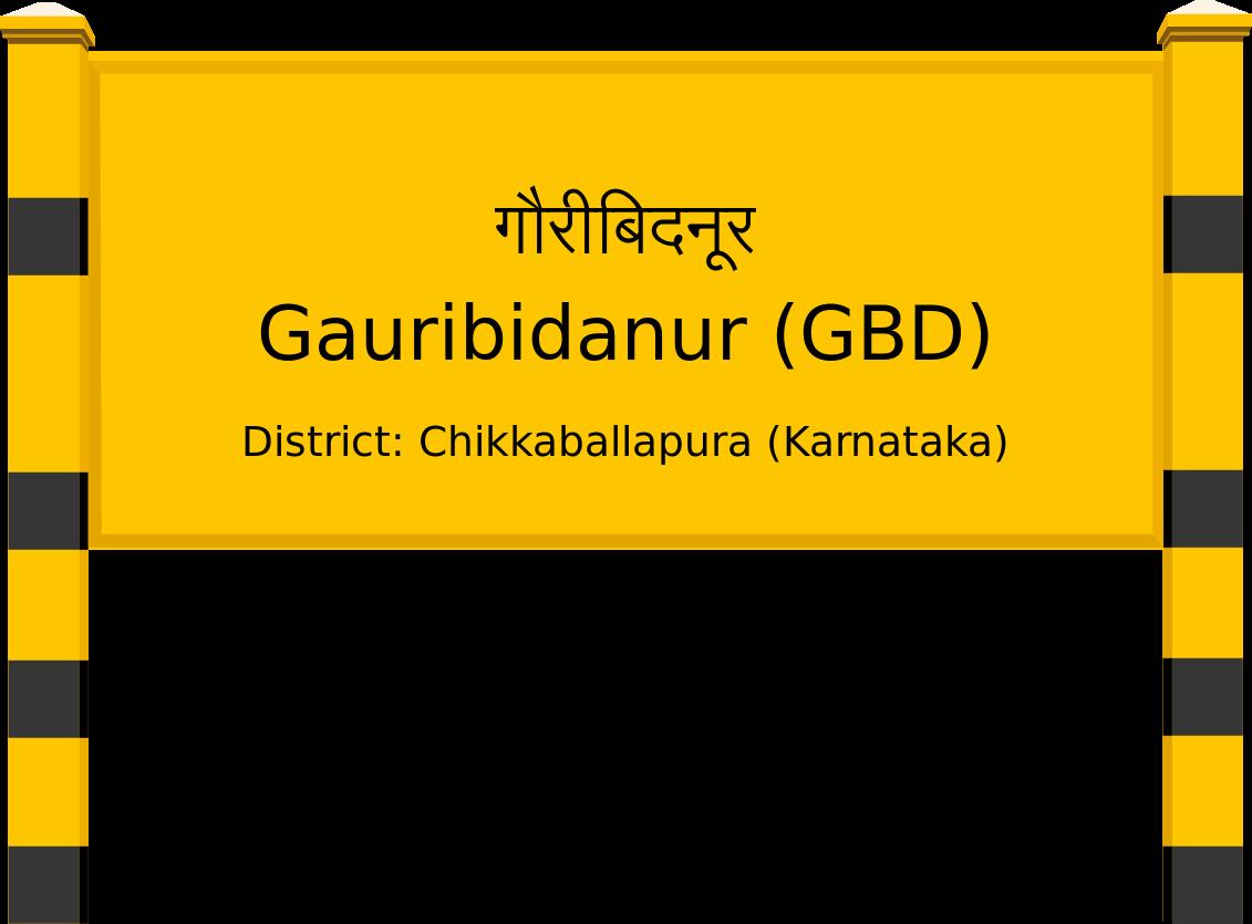 Gauribidanur (GBD) Railway Station