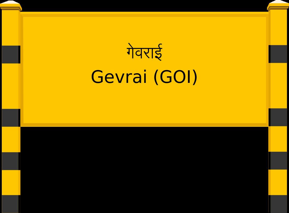 Gevrai (GOI) Railway Station