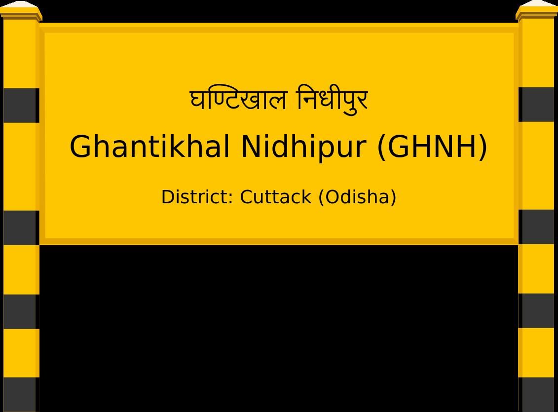 Ghantikhal Nidhipur (GHNH) Railway Station