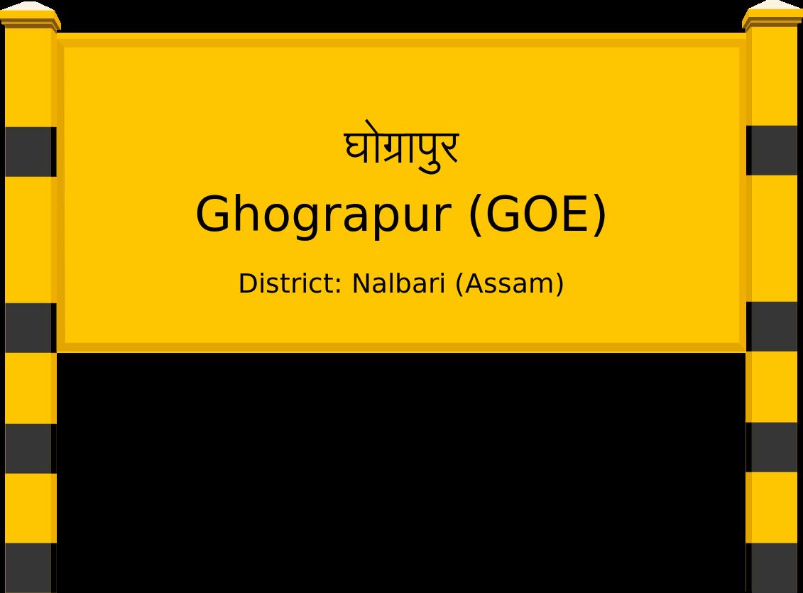 Ghograpur (GOE) Railway Station