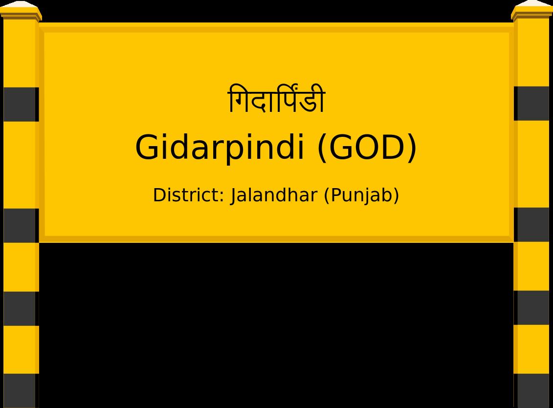 Gidarpindi (GOD) Railway Station