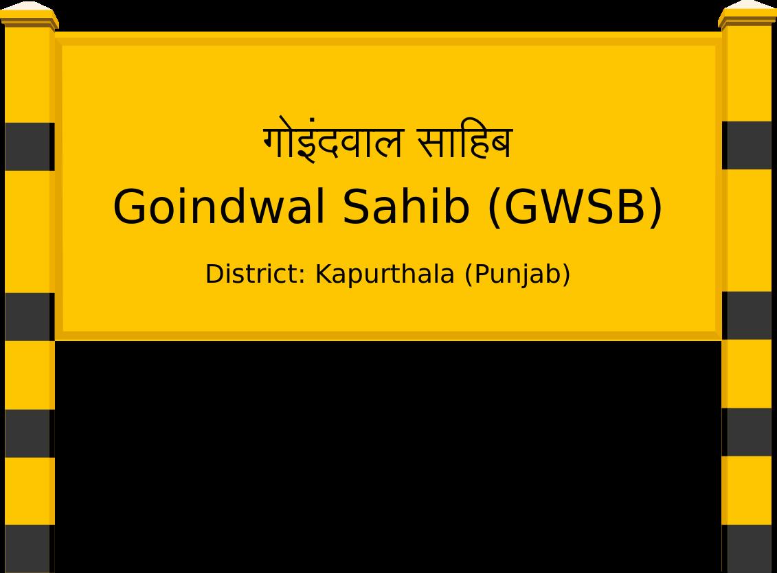 Goindwal Sahib (GWSB) Railway Station