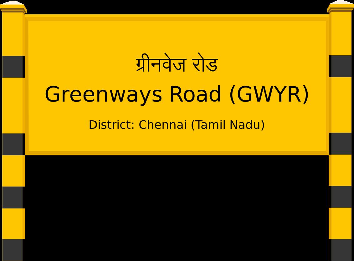 Greenways Road (GWYR) Railway Station