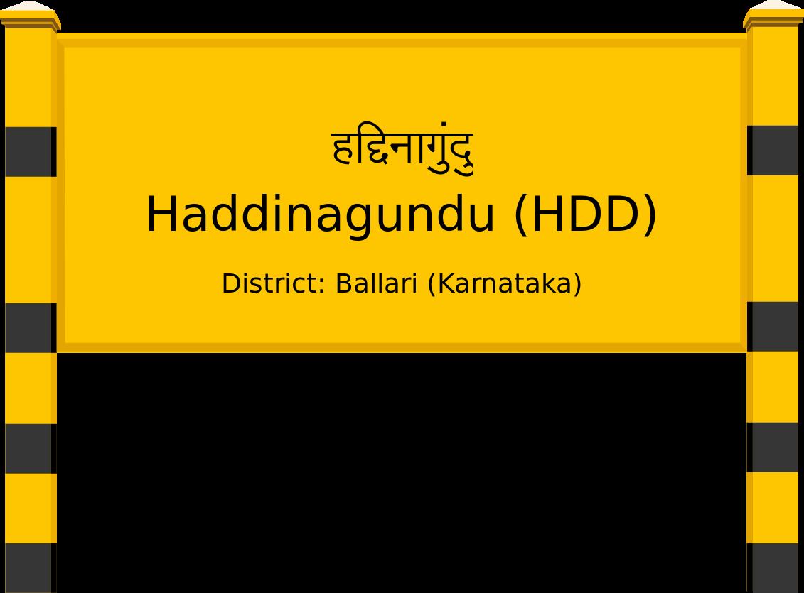 Haddinagundu (HDD) Railway Station