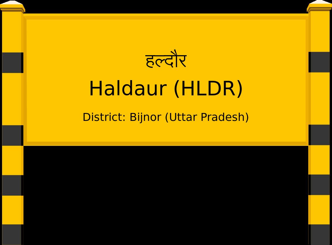 Haldaur (HLDR) Railway Station