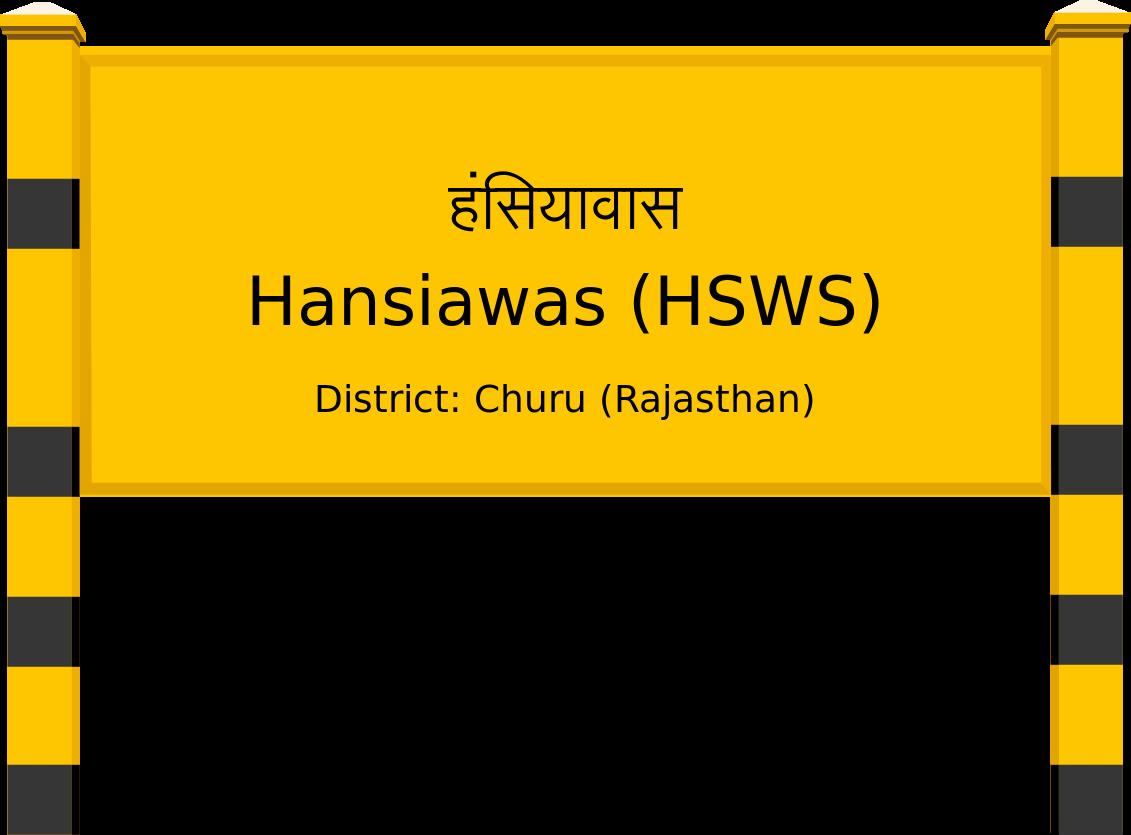 Hansiawas (HSWS) Railway Station