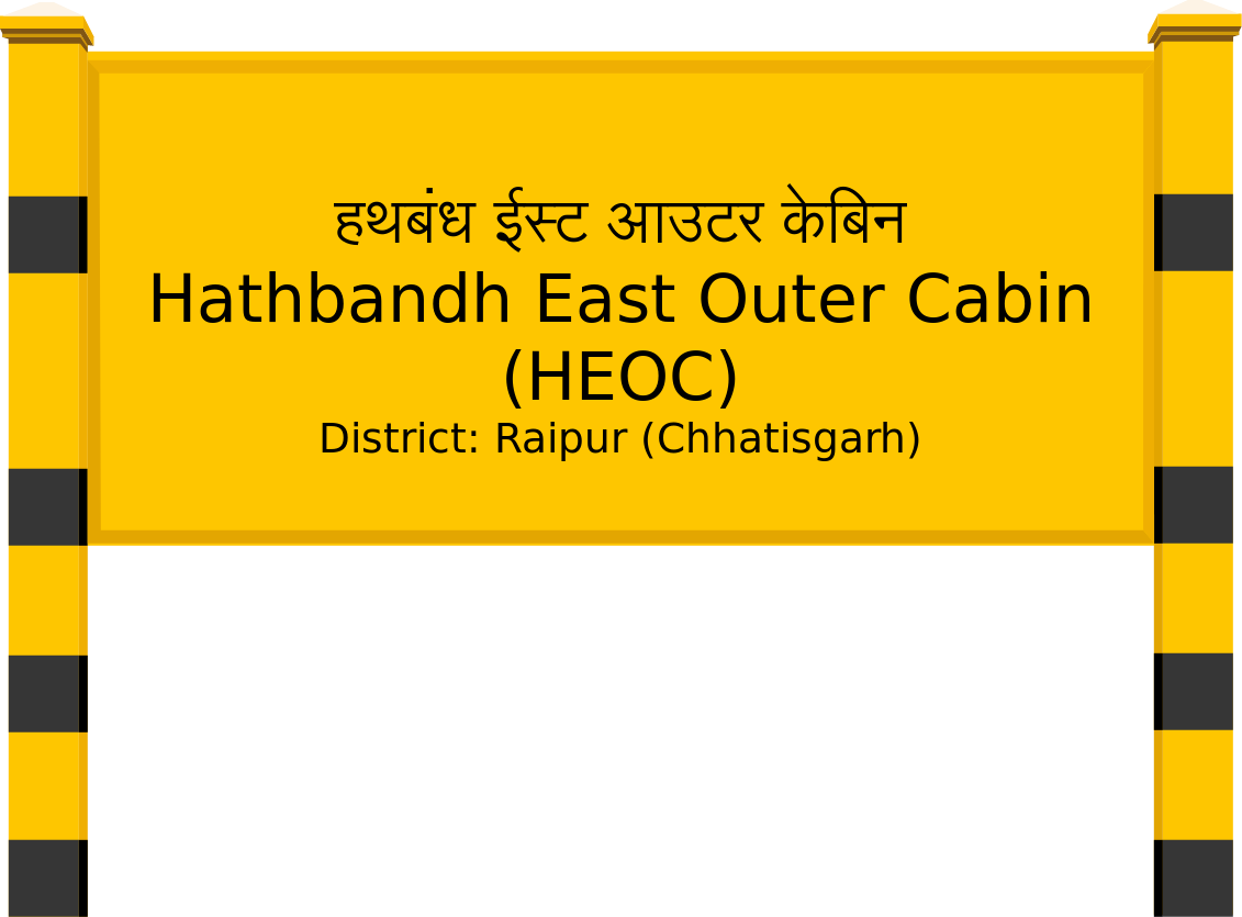 Hathbandh East Outer Cabin (HEOC) Railway Station