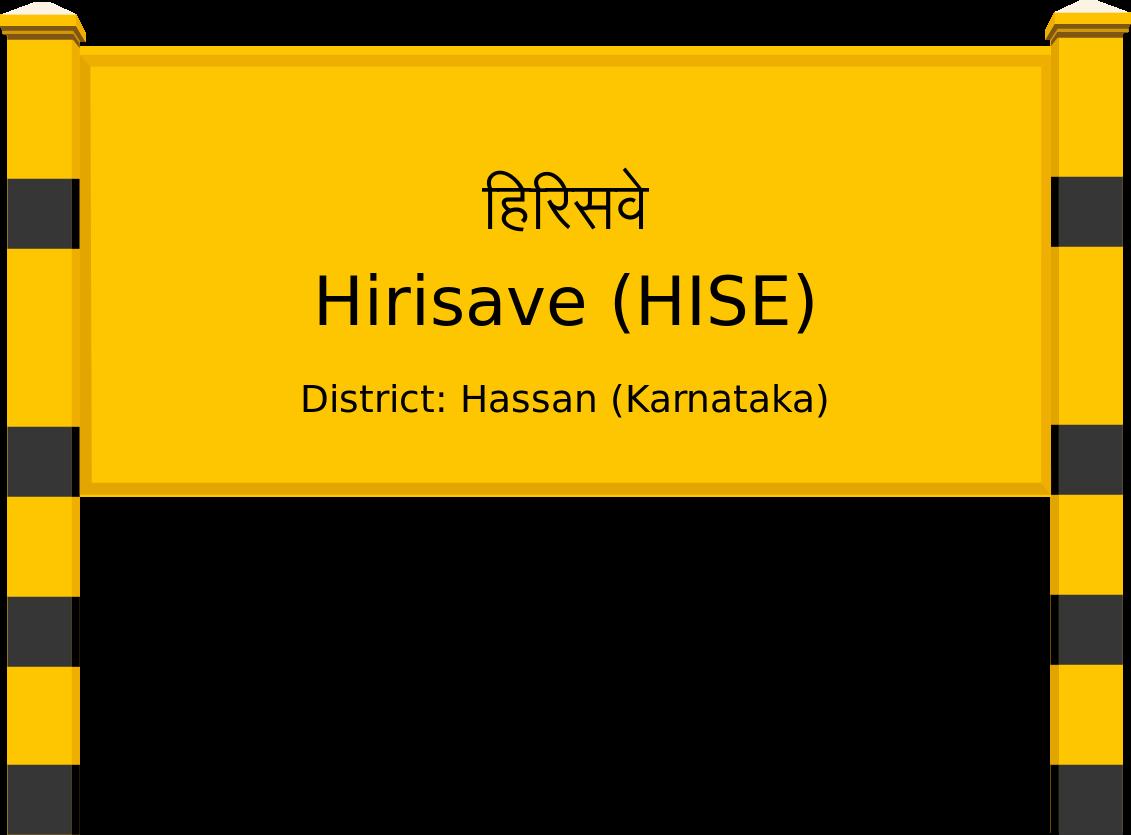 Hirisave (HISE) Railway Station