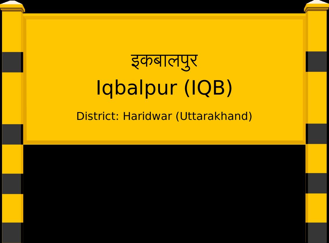 Iqbalpur (IQB) Railway Station