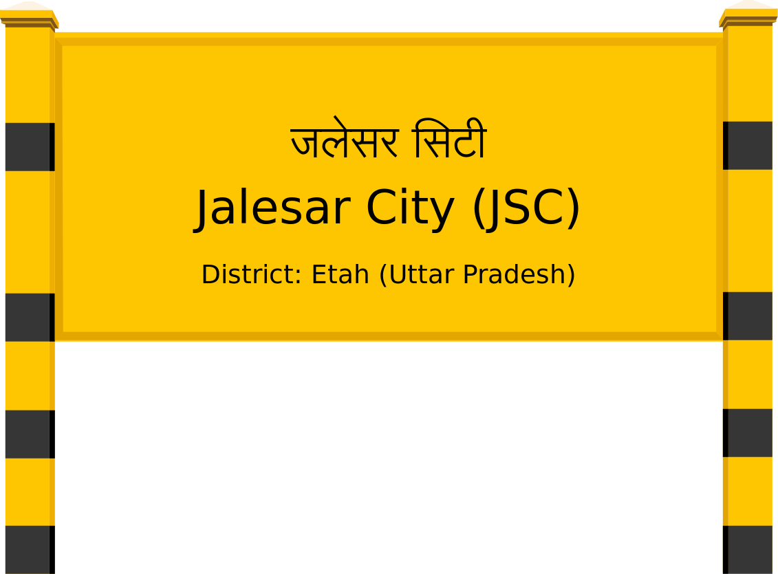 Jalesar City (JSC) Railway Station