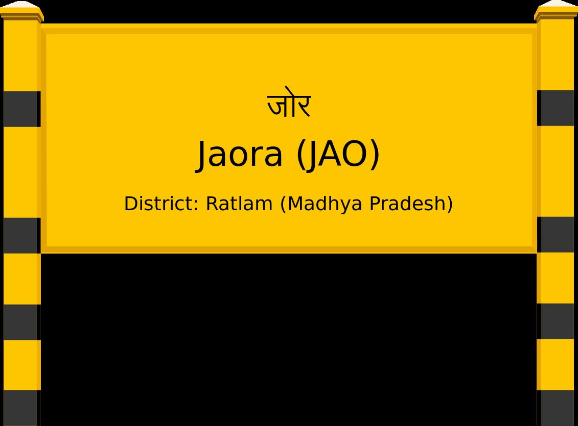 Jaora (JAO) Railway Station