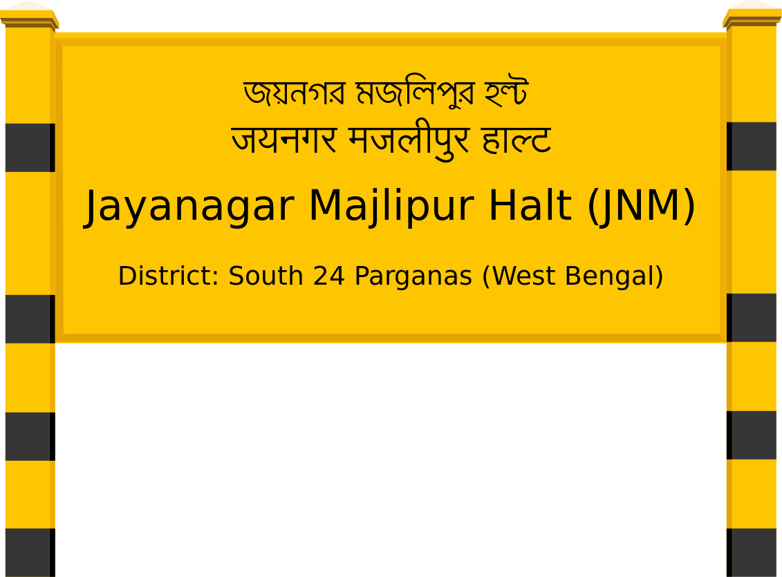 Jayanagar Majlipur Halt (JNM) Railway Station