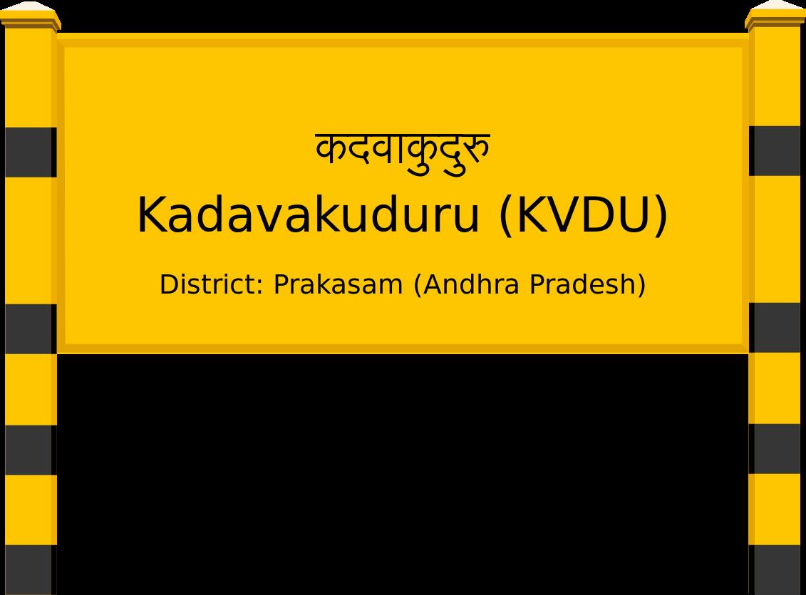 Kadavakuduru (KVDU) Railway Station