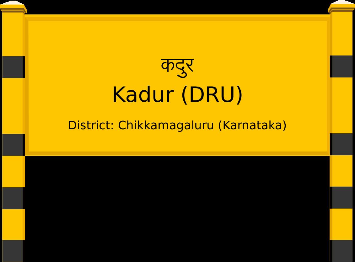 Kadur (DRU) Railway Station
