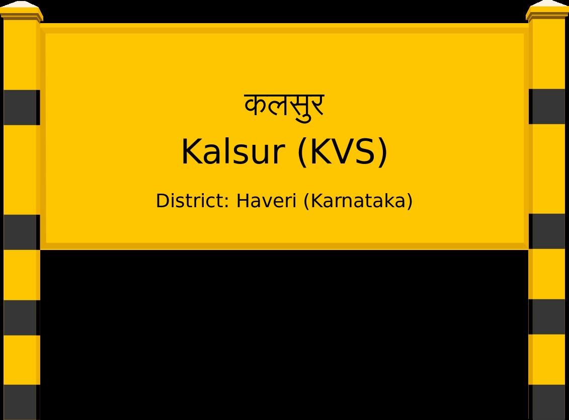 Kalsur (KVS) Railway Station