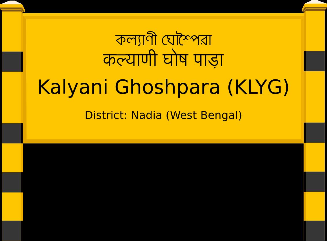 Kalyani Ghoshpara (KLYG) Railway Station