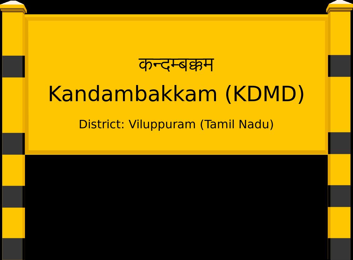 Kandambakkam (KDMD) Railway Station