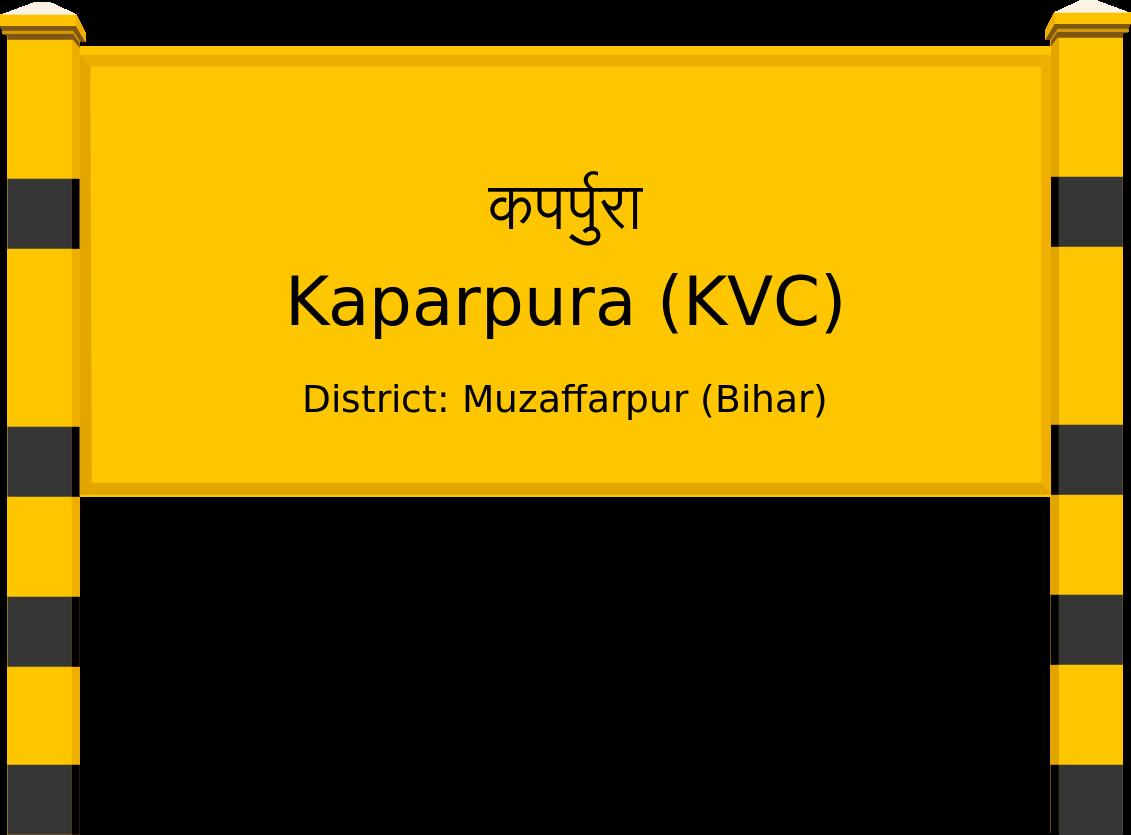 Kaparpura (KVC) Railway Station