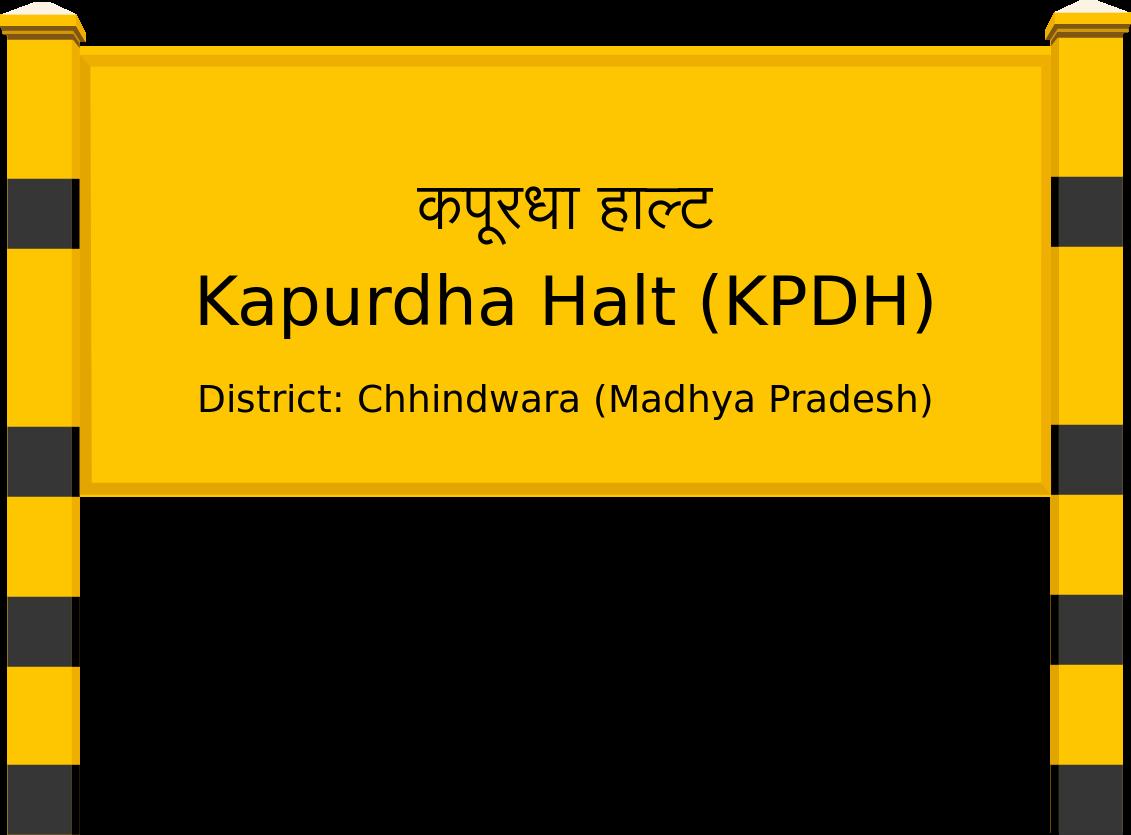 Kapurdha Halt (KPDH) Railway Station