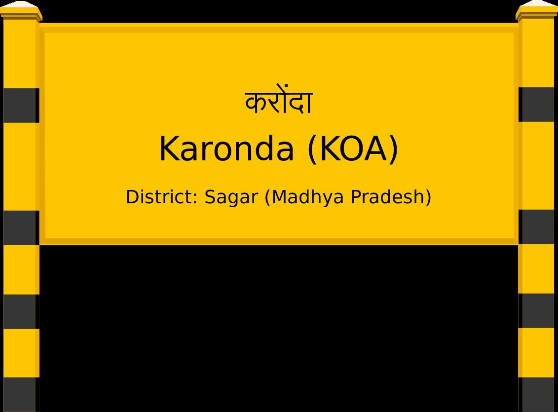 Karonda (KOA) Railway Station