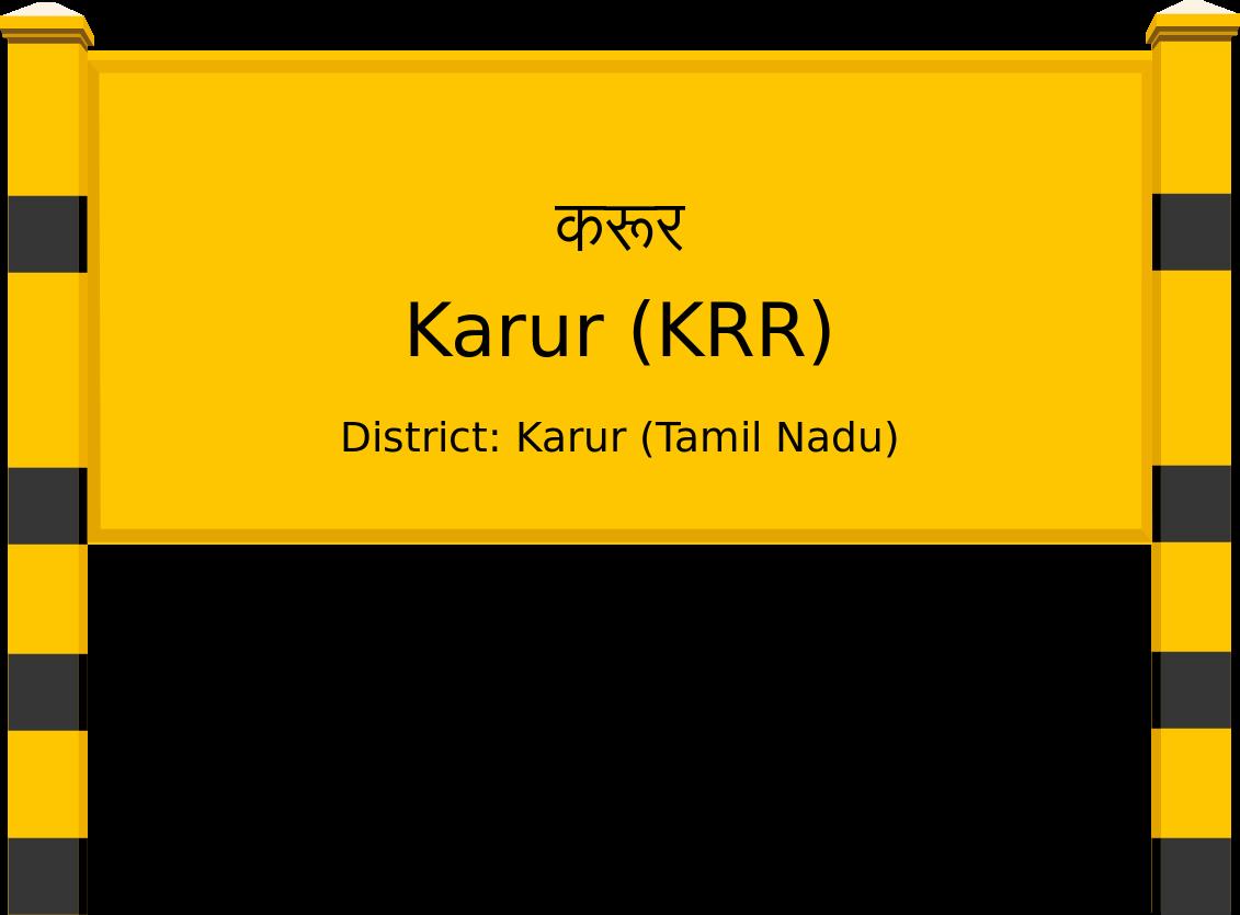Karur (KRR) Railway Station