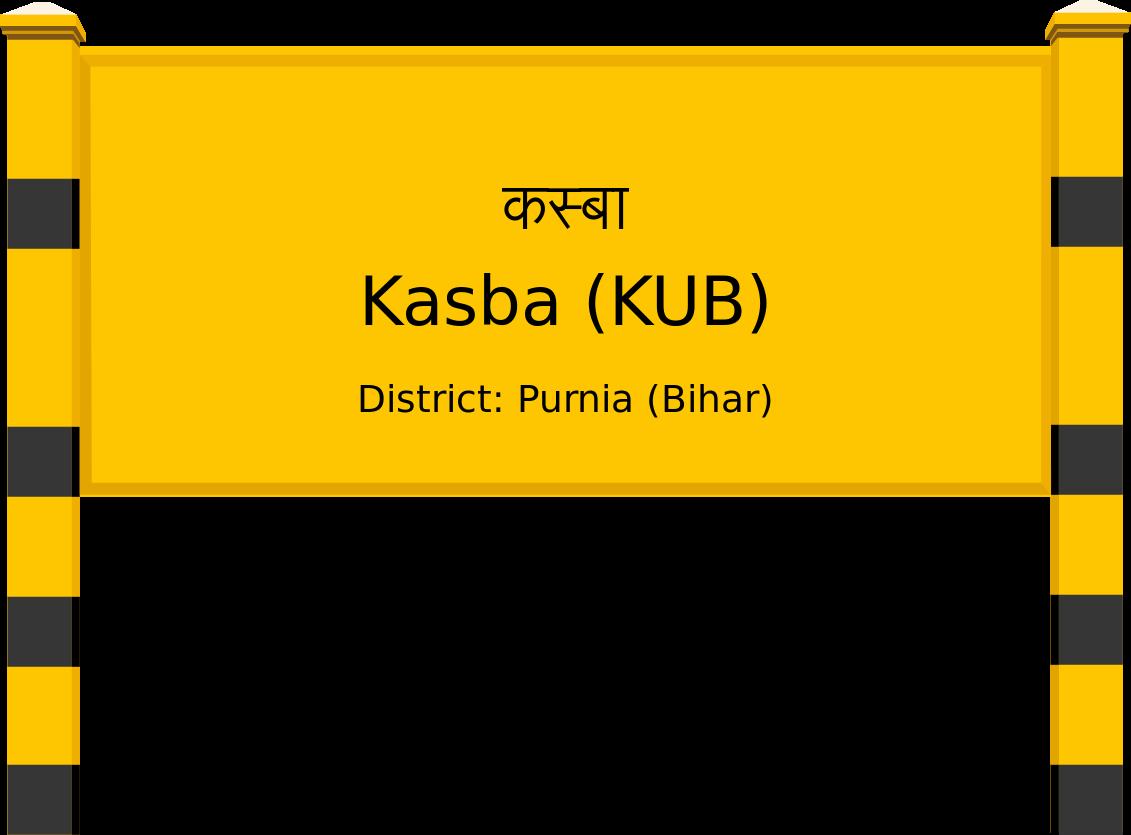 Kasba (KUB) Railway Station
