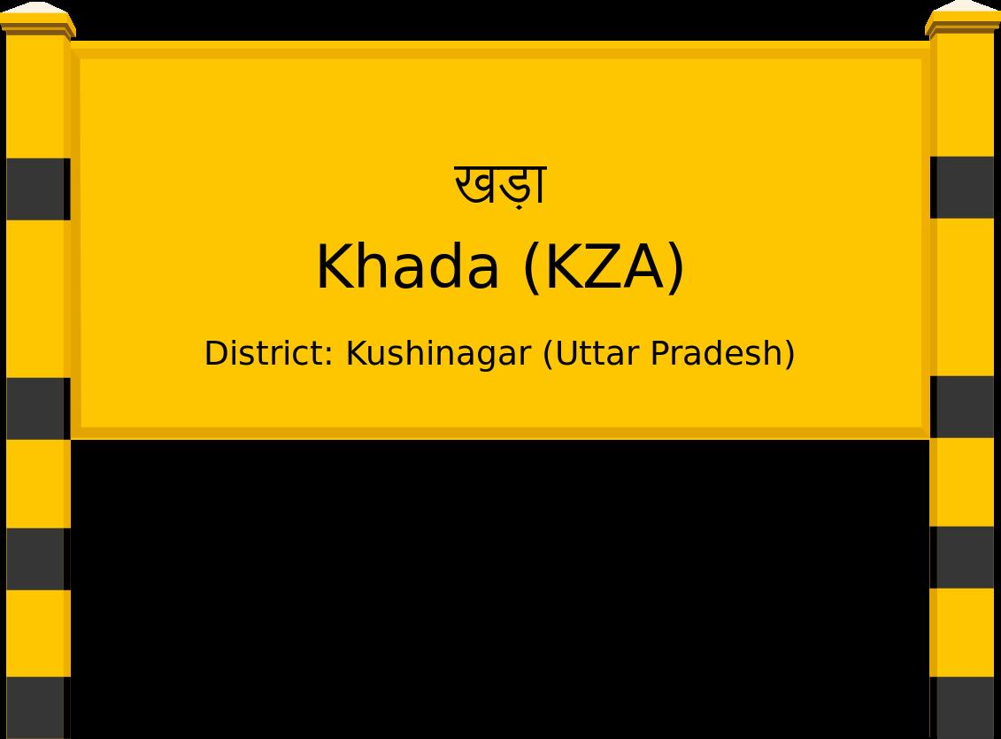 Khada (KZA) Railway Station
