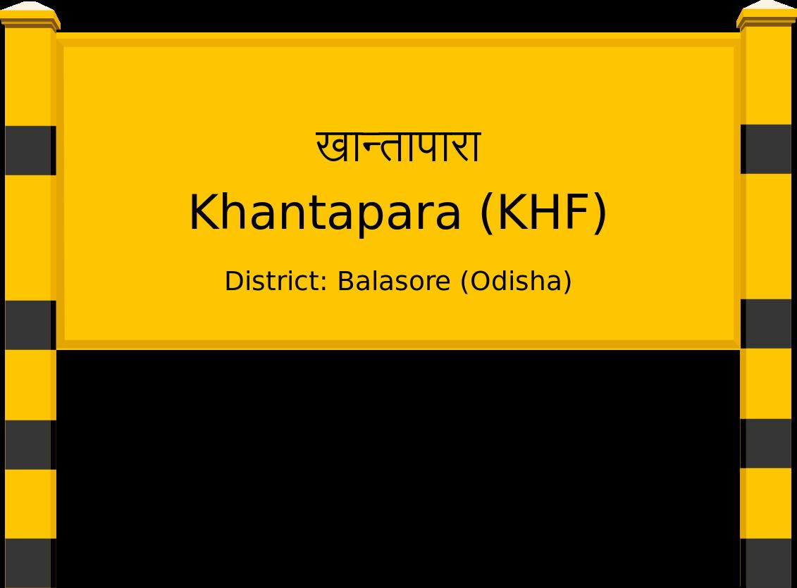 Khantapara (KHF) Railway Station