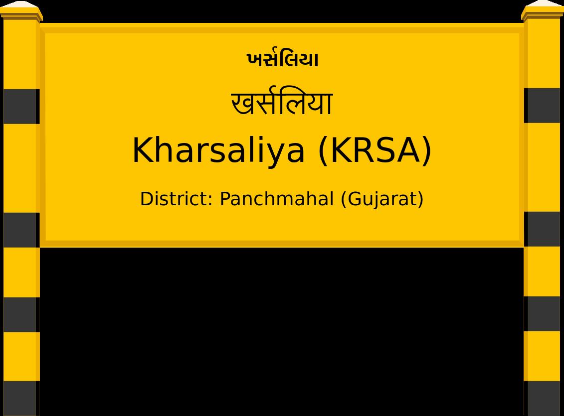 Kharsaliya (KRSA) Railway Station