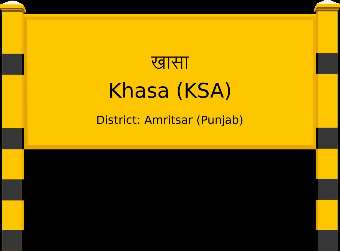 Khasa (KSA) Railway Station