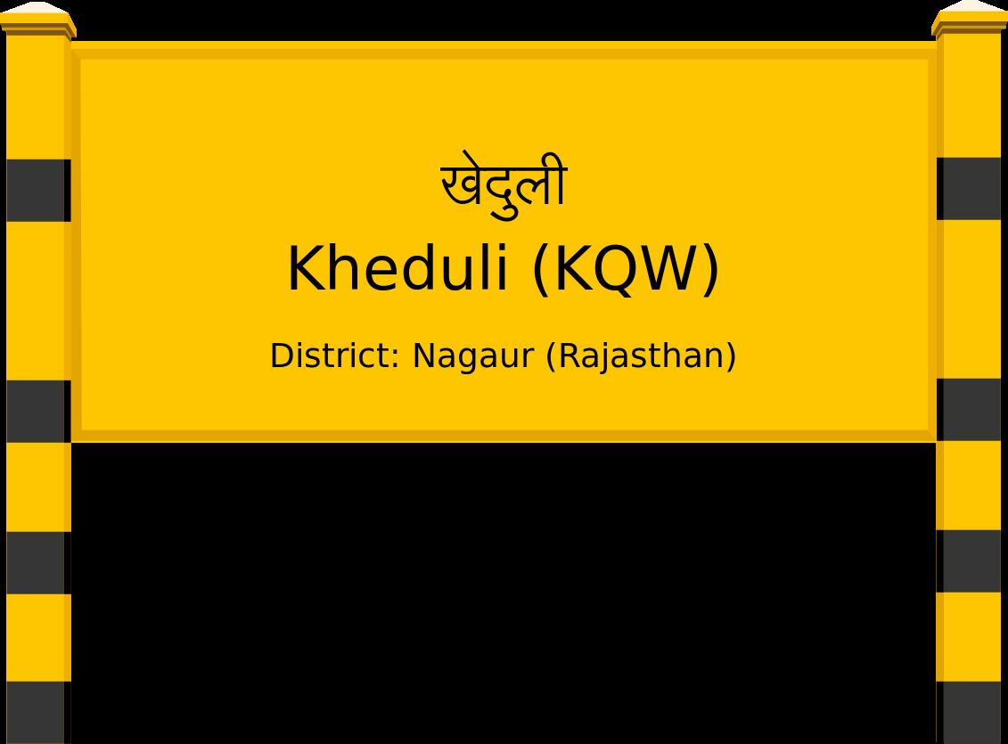 Kheduli (KQW) Railway Station