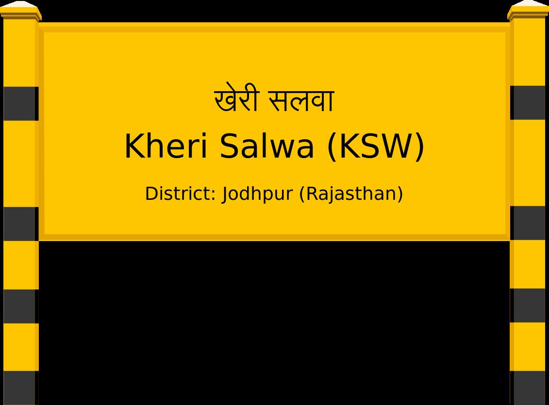 Kheri Salwa (KSW) Railway Station