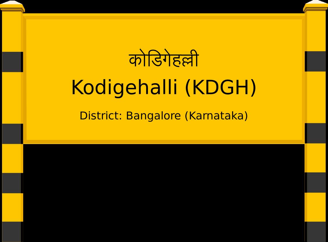 Kodigehalli (KDGH) Railway Station