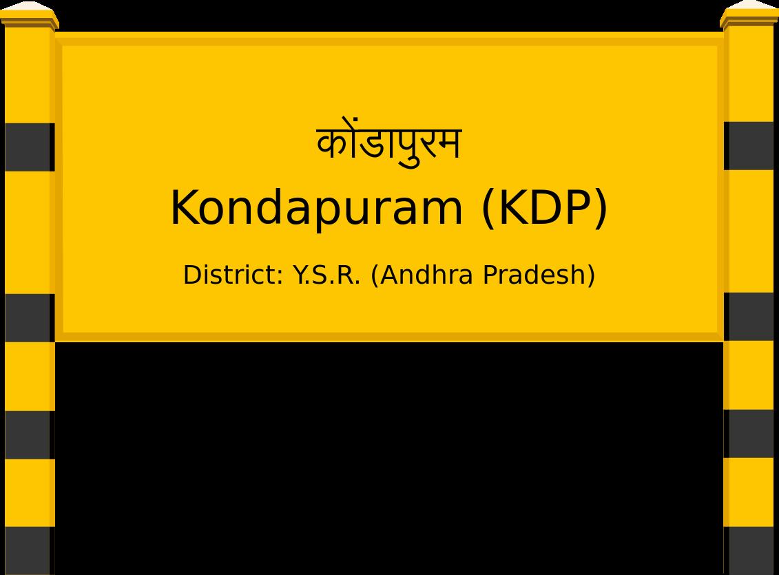 Kondapuram (KDP) Railway Station