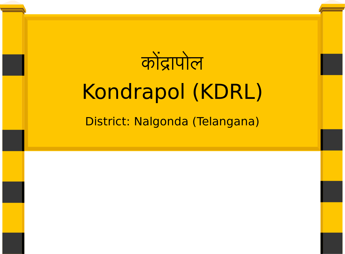 Kondrapol (KDRL) Railway Station