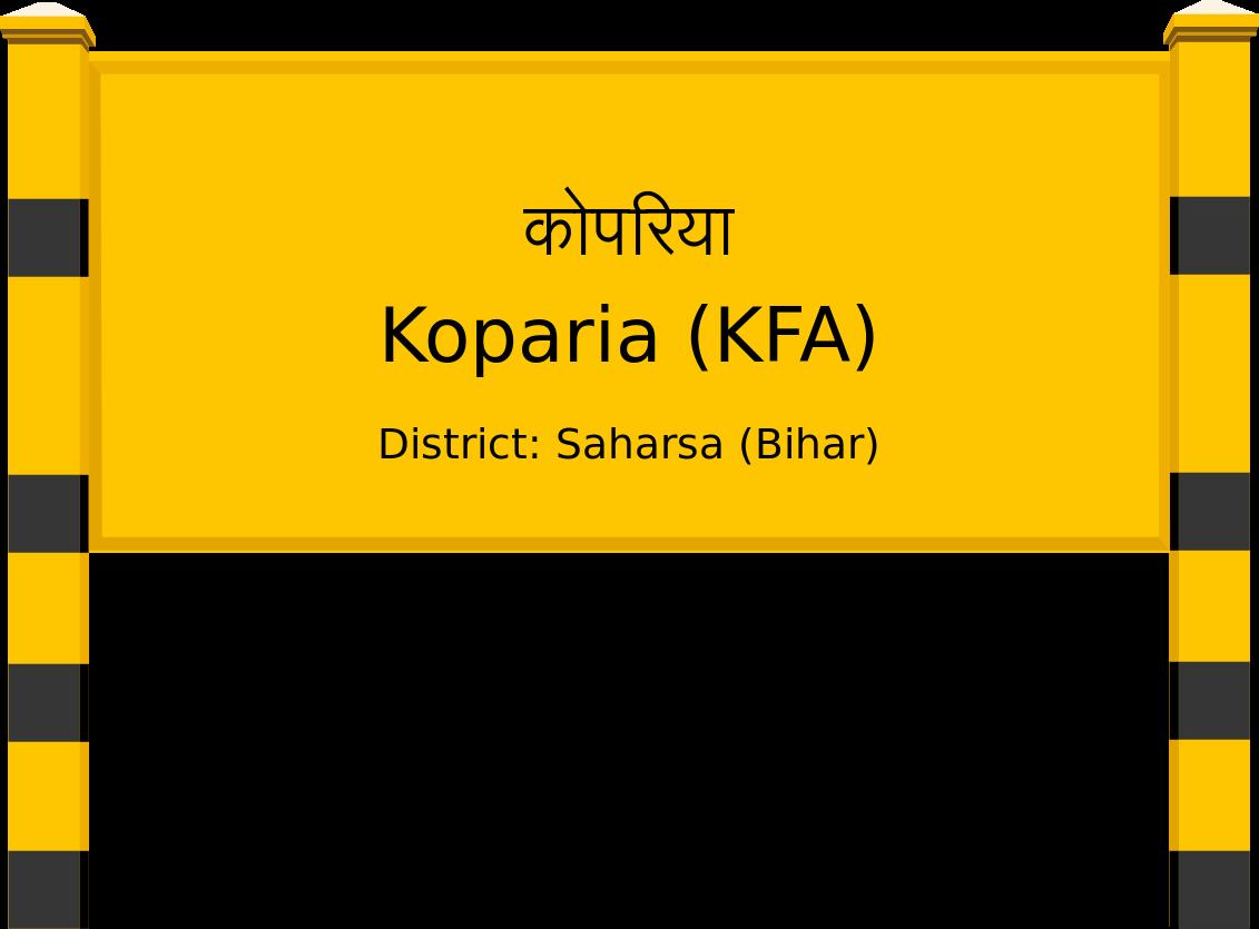 Koparia (KFA) Railway Station