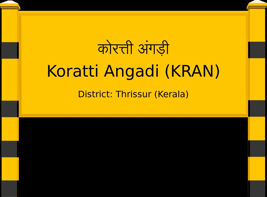 Koratti Angadi (KRAN) Railway Station