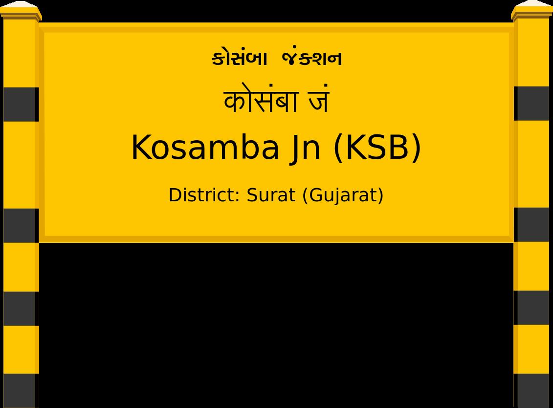 Kosamba Jn (KSB) Railway Station