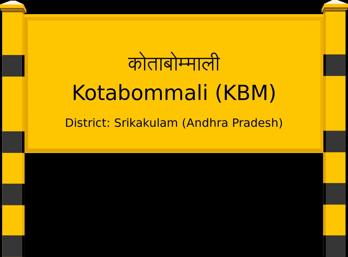 Kotabommali (KBM) Railway Station
