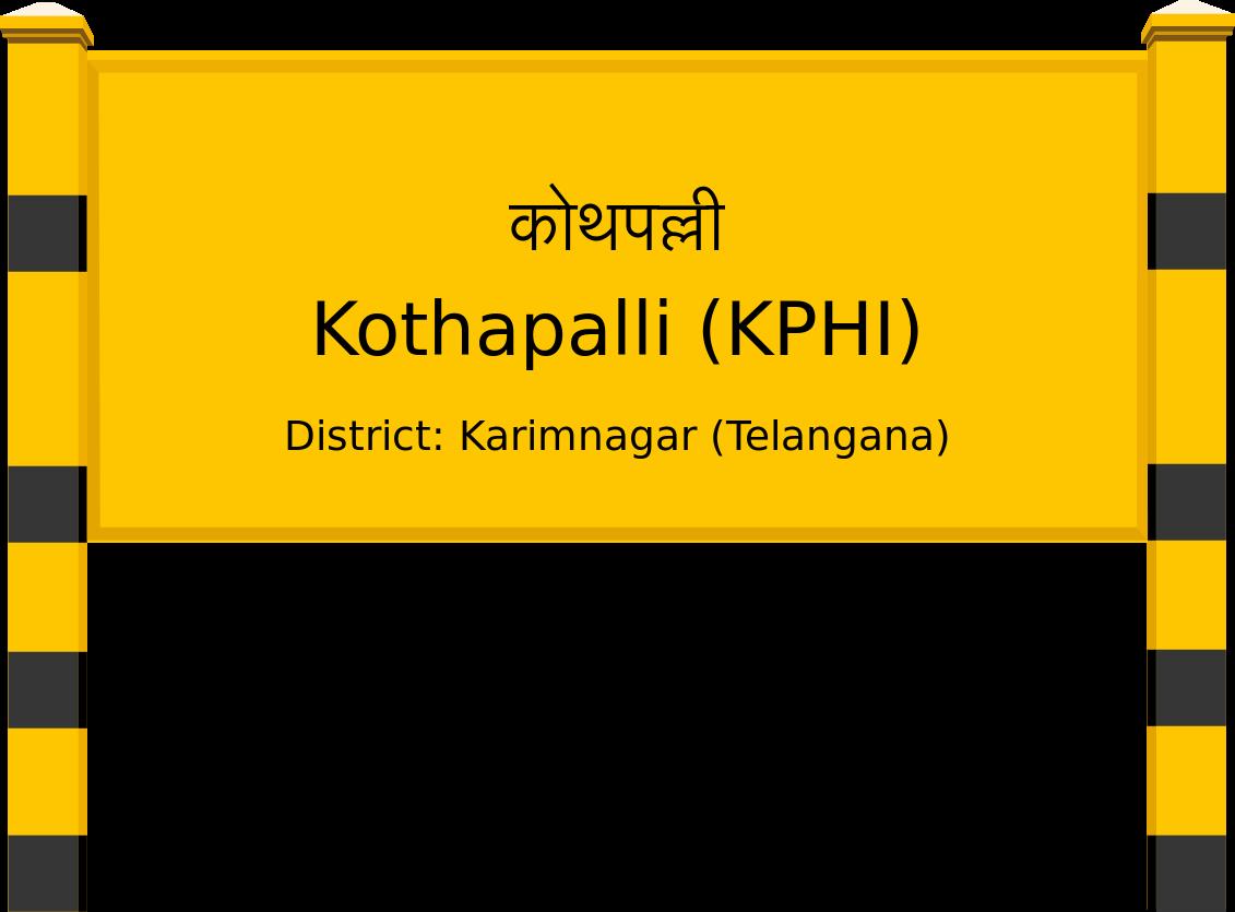 Kothapalli (KPHI) Railway Station